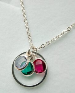 necklace with birthstones