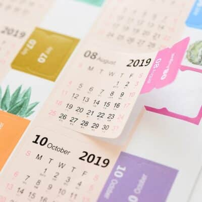 2019 monthly calendar notebook cute diary stickers