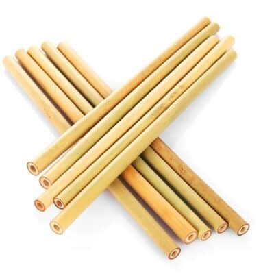5Pcs Natural Bamboo Straws