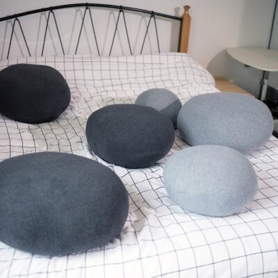 Creative 3D Cobblestone Pillows for Bed and Sofa