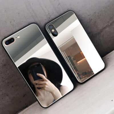 Luxury Clear Makeup Mirror Phone Case for iPhone