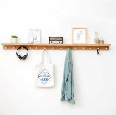 Porch clothes hooks racks wall hangings