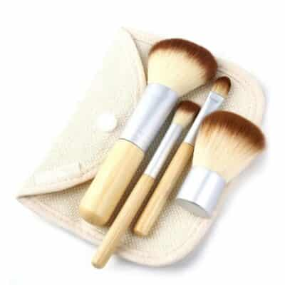 Set of Professional Foundation Bamboo Makeup Brushes