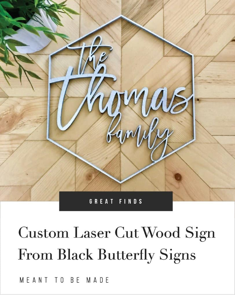 Custom Laser Cut Wood Sign From Black Butterfly Signs