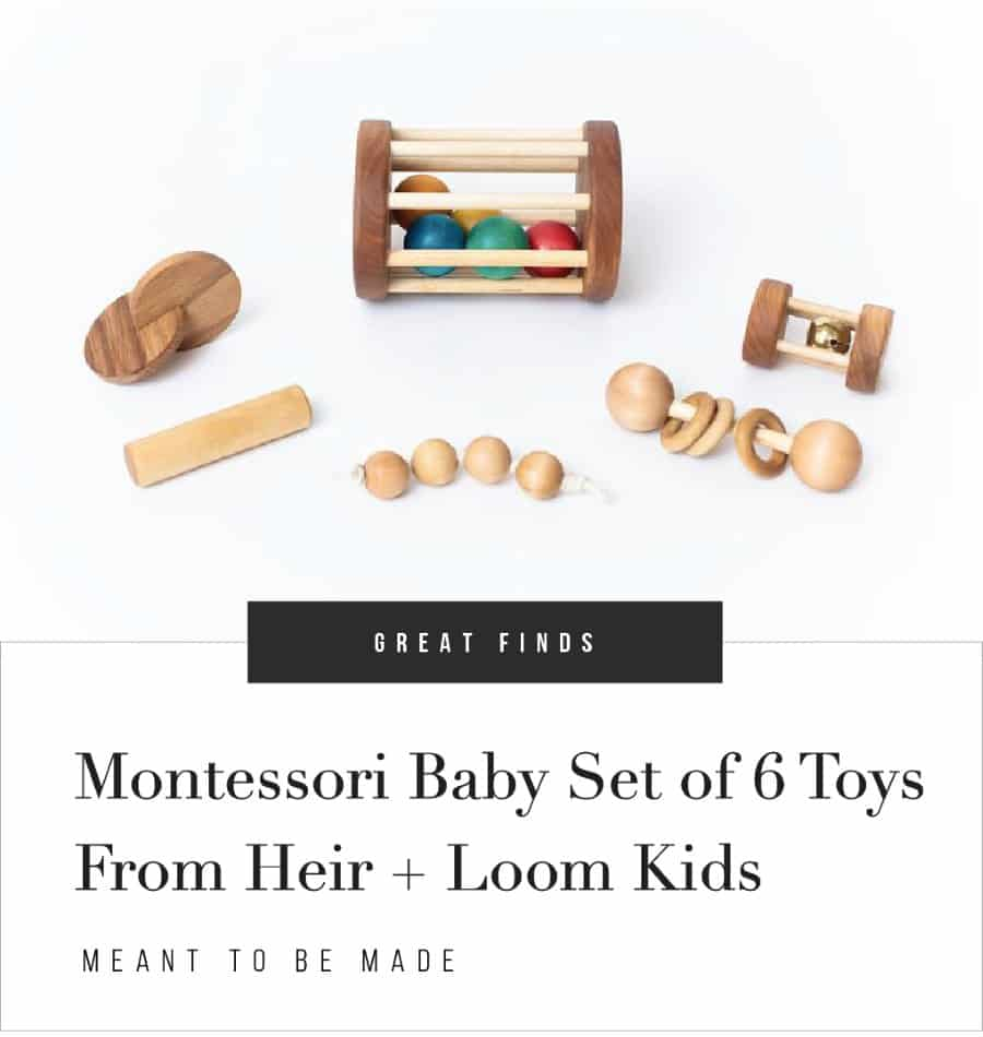 Montessori Baby Set of 6 Toys From Heir_Loom Kids