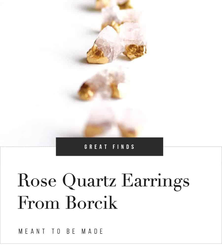 Rose Quartz Earrings From Borcik