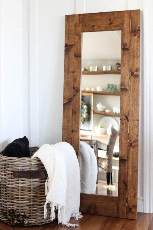 DIY-Wood-Framed-Mirror