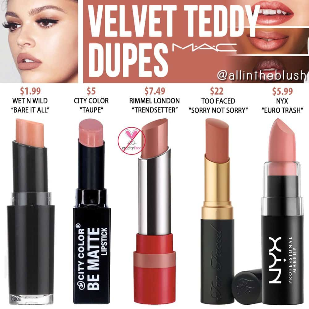 MAC-Velvet-Teddy-Lipstick-Dupes
