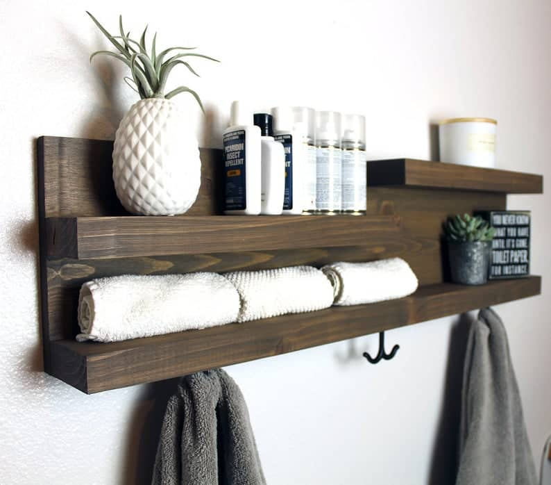 Modern-Farmhouse-Shelf-Organizer-With-Hooks