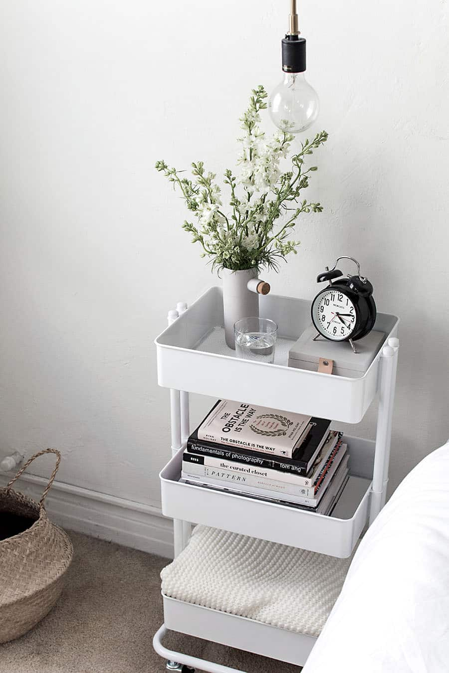 Replace-a-Bedside-Table-With-a-Cart