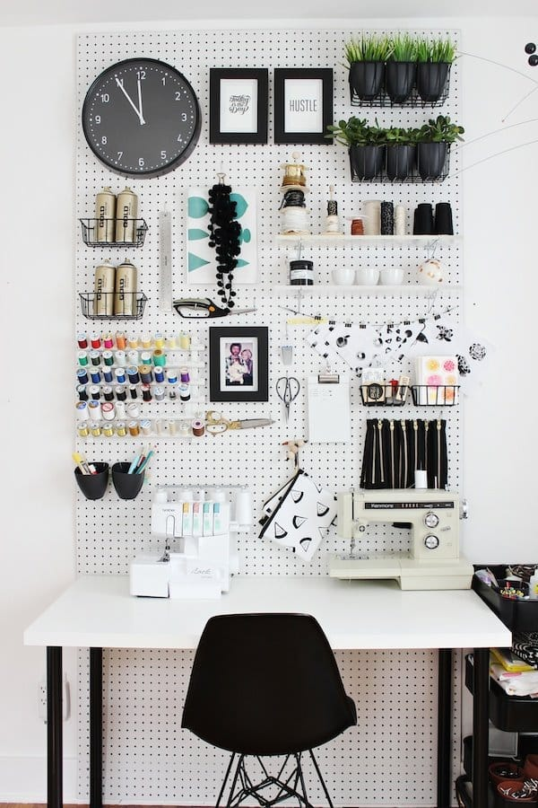Use-a-Pegboard-For-Vertical-Storage